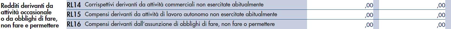 I redditi da attivit occasionali da indicare nel quadro rl euroconference news - Certificazione lavoro autonomo provvigioni e redditi diversi nel 730 ...