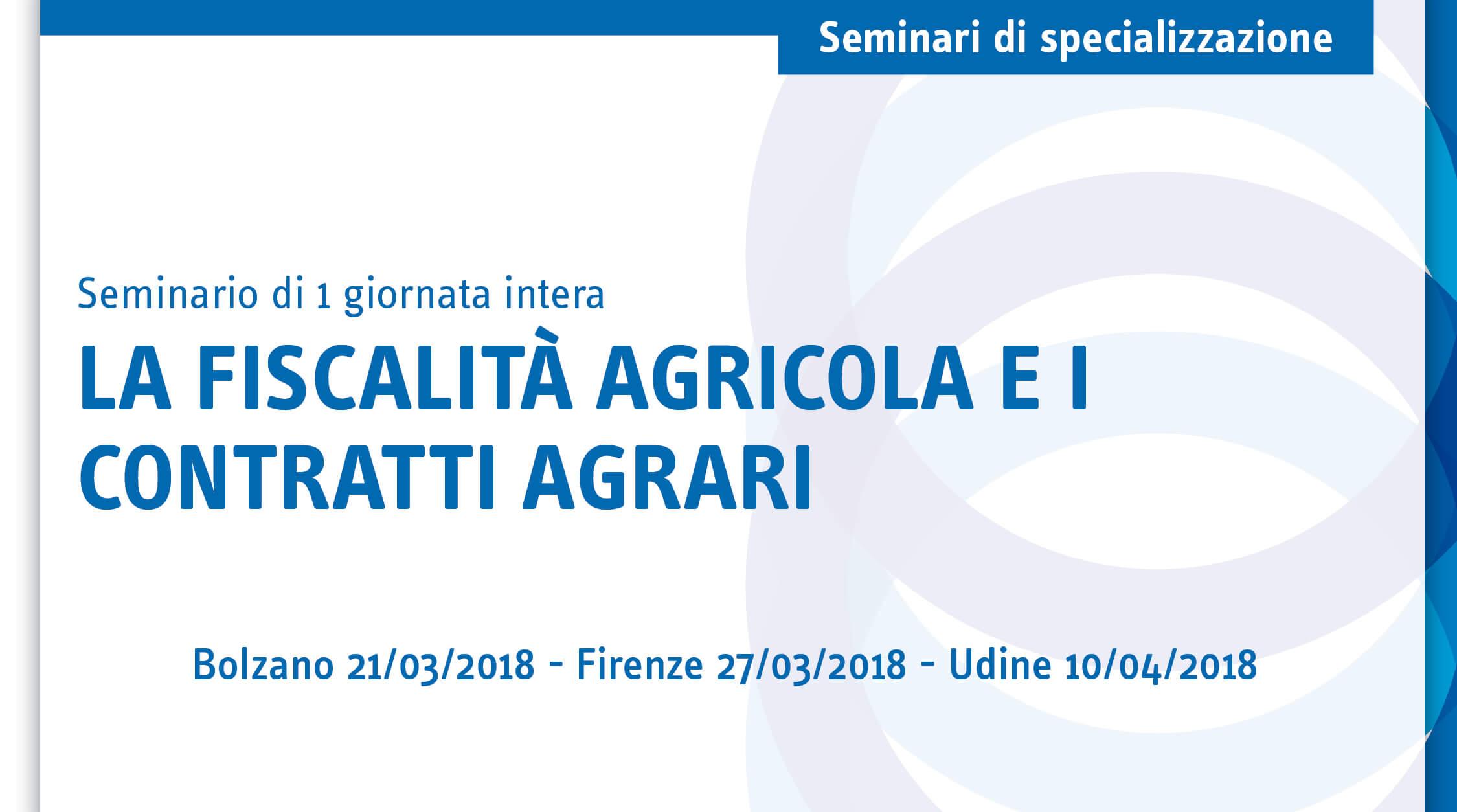 La fiscalità agricola e i contratti agrari