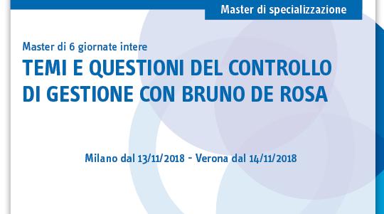 Temi e questioni del controllo di gestione con Bruno De Rosa