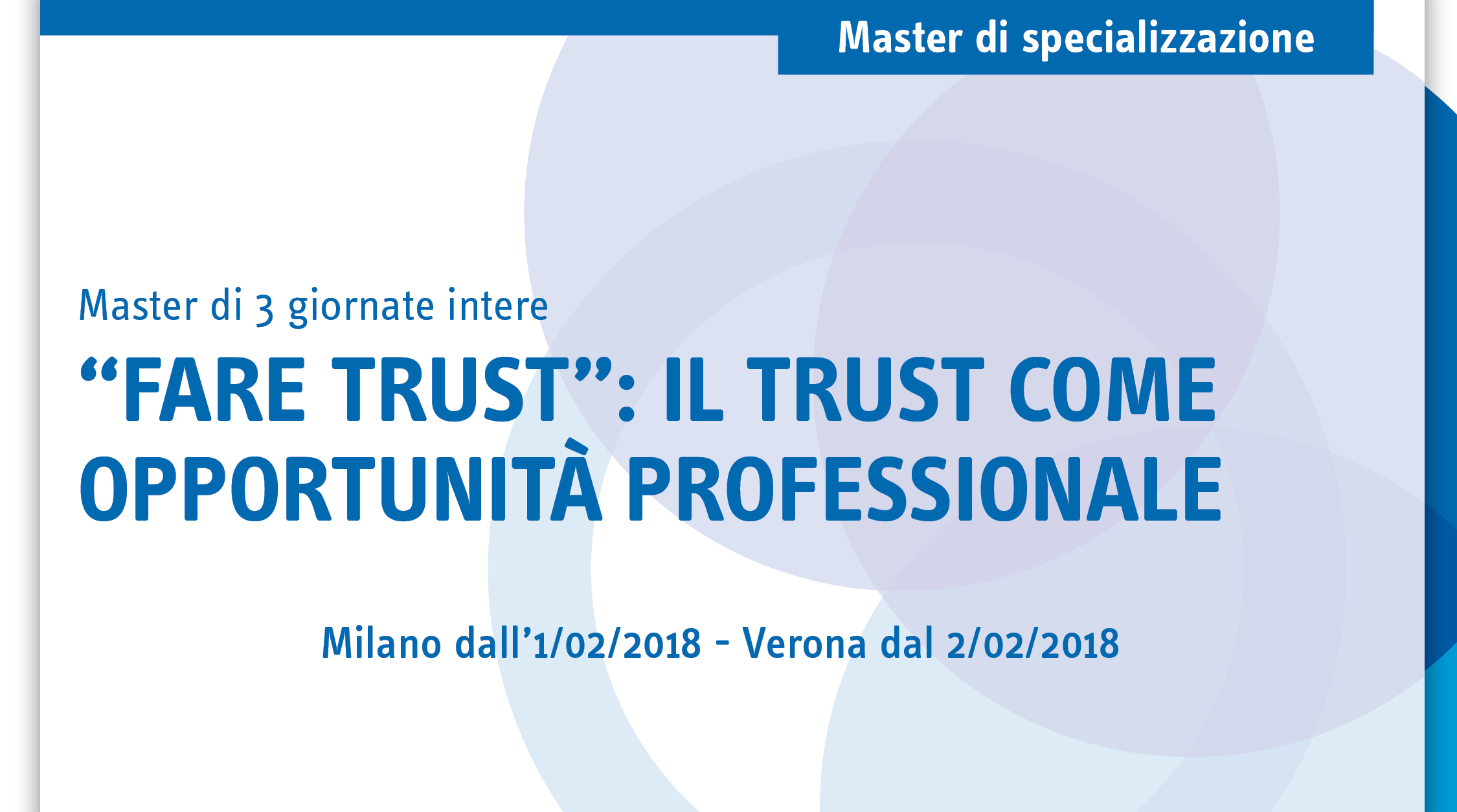 Fare trust: il trust come opportunità professionale
