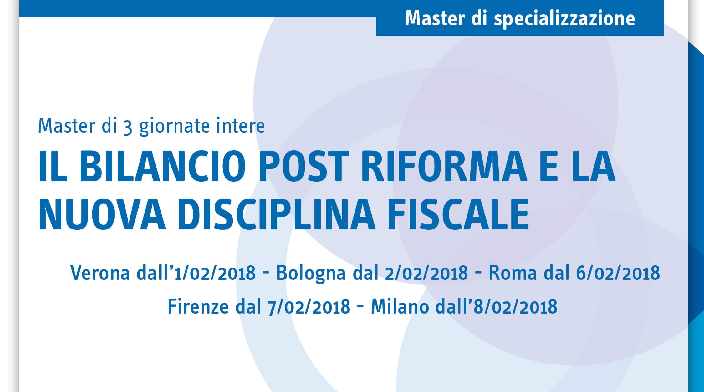 Il bilancio post riforma e la nuova disciplina fiscale