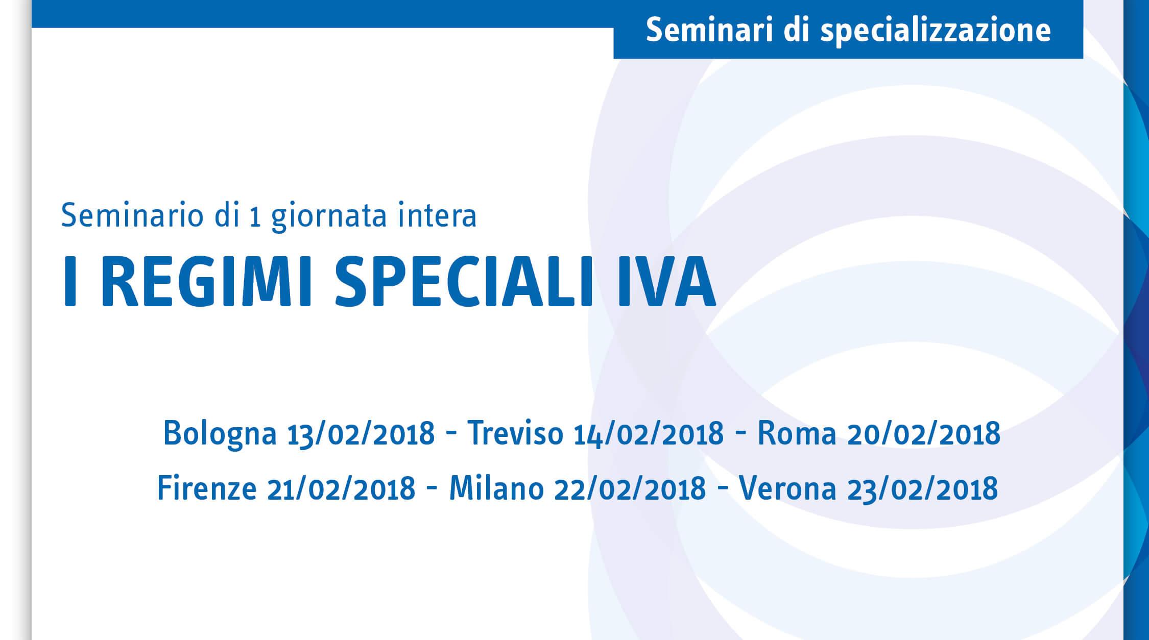 I regimi speciali IVA