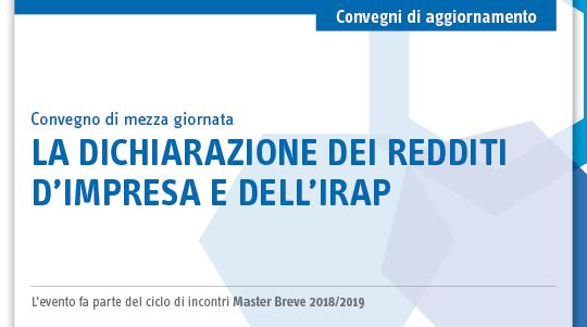 La dichiarazione del reddito di impresa e dell'IRAP