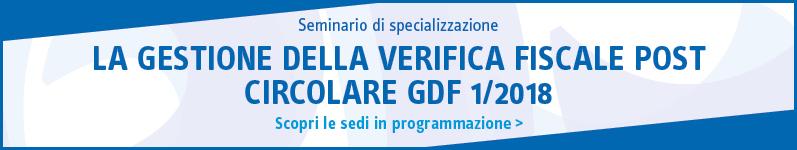 La gestione della verifica fiscale post circolare GDF 1/2018