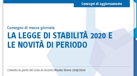 La legge di stabilità 2020 e le novità di periodo