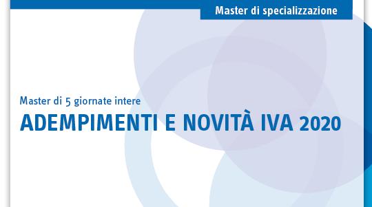 Adempimenti e novità IVA 2020