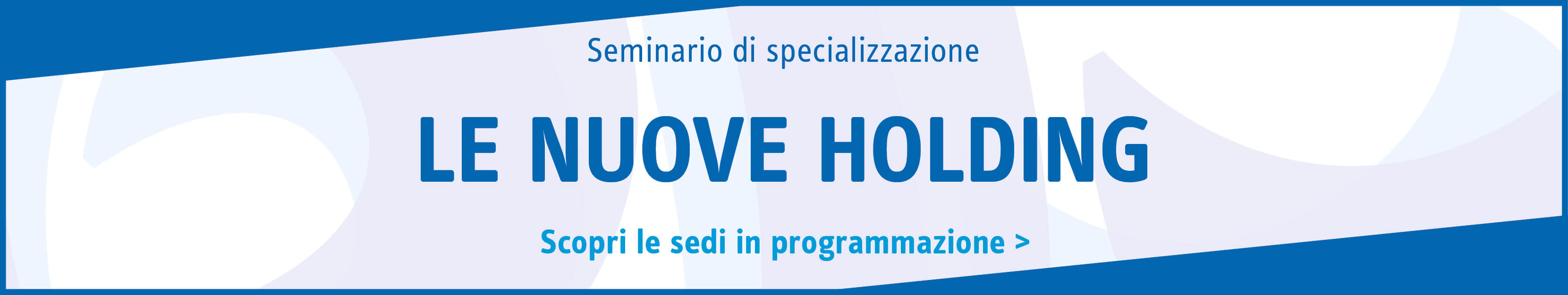 Le nuove holding