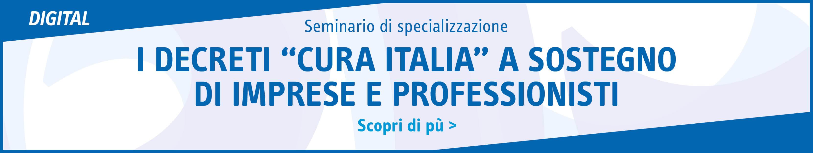 """I decreti """"cura Italia"""" a sostegno di imprese e professionisti"""