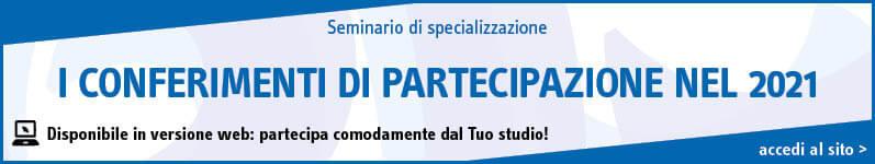 I conferimenti di partecipazione nel 2021