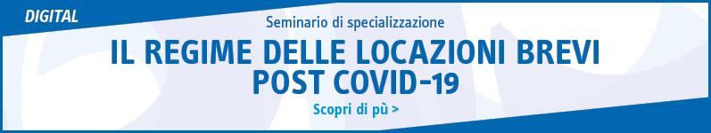 Il regime delle locazioni brevi post Covid-19