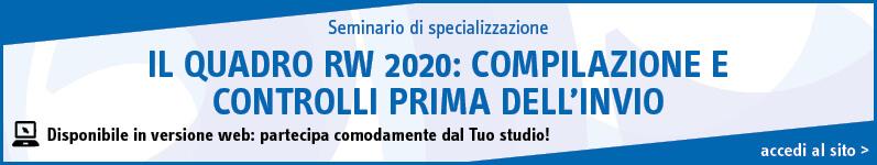 Il quadro RW 2020: compilazione e controlli prima dell'invio