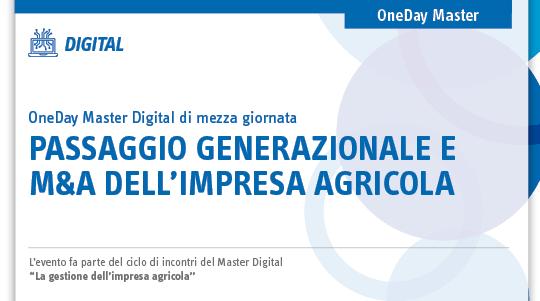 Passaggio generazionale e M&A dell'impresa agricola