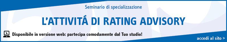 L'attivitá di rating advisory