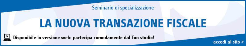 La nuova transazione fiscale
